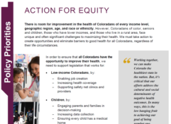 Action for Equity: Policy Priorities