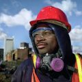 Construction Worker with Safety Equipment