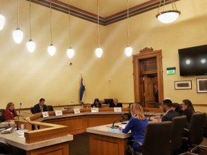 Testifying during the Legislative Session