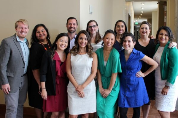 Ten Center for Health Progress stand together as group at the 2019 HEALTHtalks luncheon